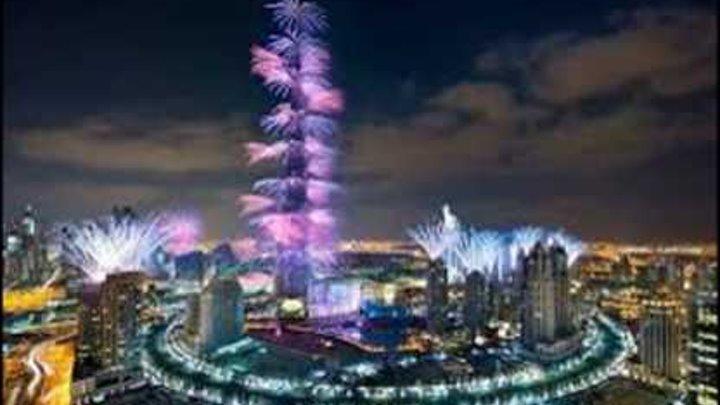 Дубай Салют 2017 Новый Год Dubai New Year fireworks 2017 HD