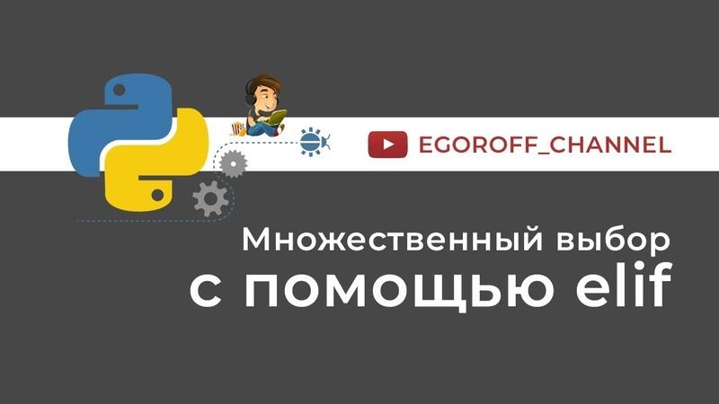 17 Множественный выбор elif Python