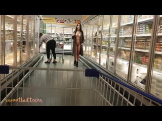 Nude in public shop