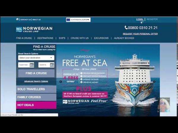 InCruises-Регистрация брони на сайте круизного лайнера Norwegian для Barselona Cruise