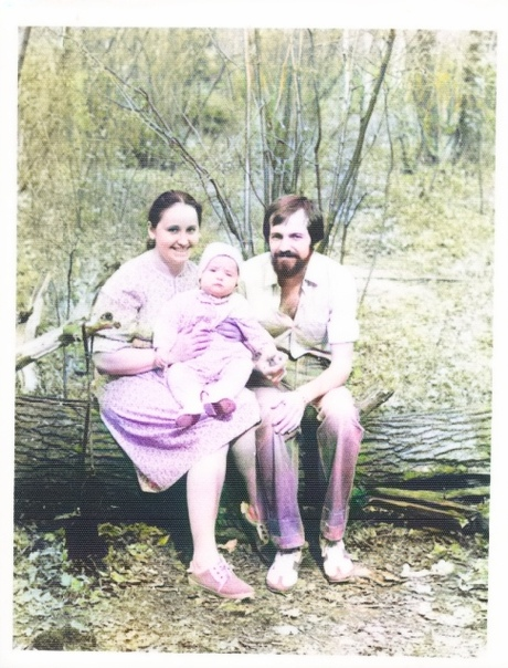 Игорь с родителями, 1983 г.