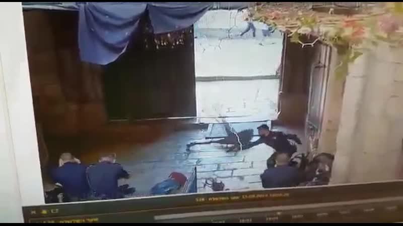 Два подростка (на вид 10 и 13 лет) напали на полицию Израиля и были убиты