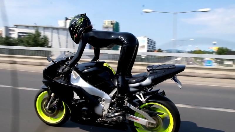 Latex biker rides
