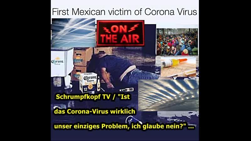 Schrumpfkopf TV Corona Virus eine wirkliche Bedrohung und sollen wir dabei die noch viel schlimmeren vergessen