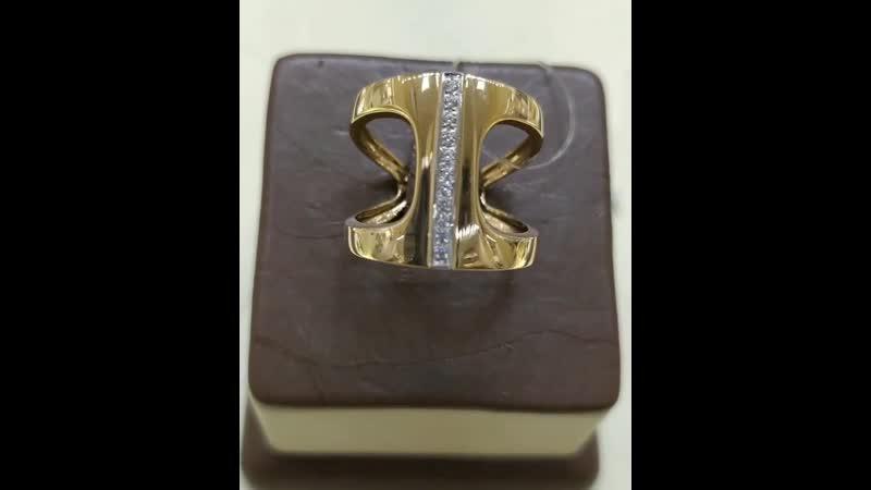 💍 НОВИНКА💞 На видео: 💎Кольцо,красное золото 585 ° 💎Размер 18 💎Вставки:Фианит белый. 💎Общая масса изделия 4.42 гр 💎Цена: 14976