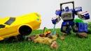Bumblebee se prepara para el colegio. Transformers de juguetes. Vídeos para niños