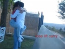 Lift and carry cradle him so easy she hoty strong