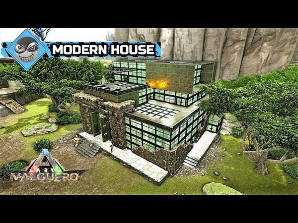 ARK: Survival Evolved - Modern House design - Valguero Ruins build (Speed Build)