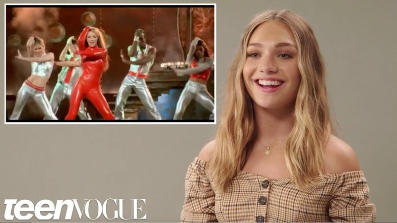 Maddie Ziegler Tries Iconic Music Video Dances   Teen Vogue