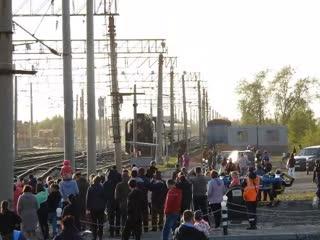 Прибытие Ретро-поезда в Малошуйку. 09,08,2019, 19:15 час.