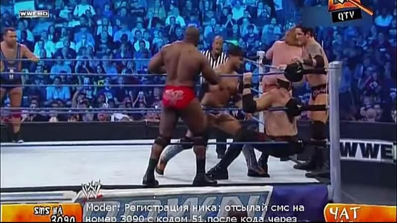 17 два с трех фолов Кейн , Кофи , Сантино и Биг Шоу vs Корр .