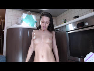 Hot mom milk boobs with pink vibrator in her pussy