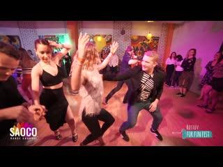 Konstantin Letovaltsev and Anna Chukanova Salsa Dancing at Rostov For Fun Fest (Russia), Saturday  (SC)