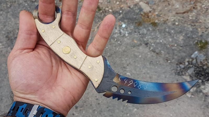 TALON KNIFE ПОВЕРХНОСТНАЯ ЗАКАЛКА ИЗ CS GO своими руками