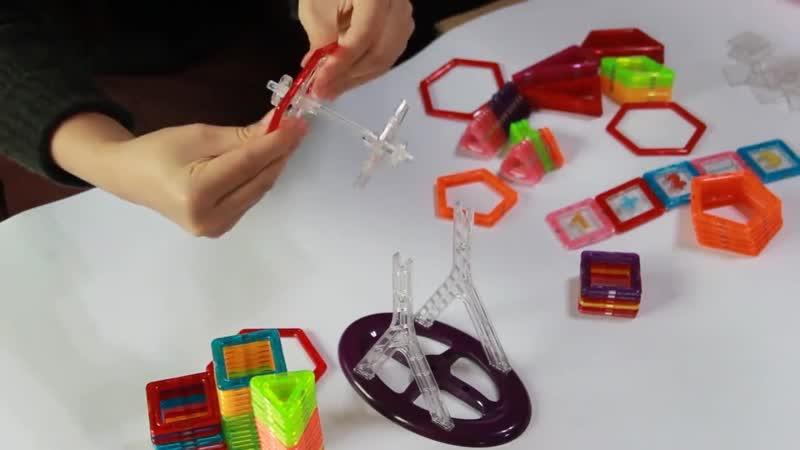 Мини 200 шт 46 шт магнитный конструктор игрушка для мальчиков и девочек магнитные строительные блоки магнитные развивающие