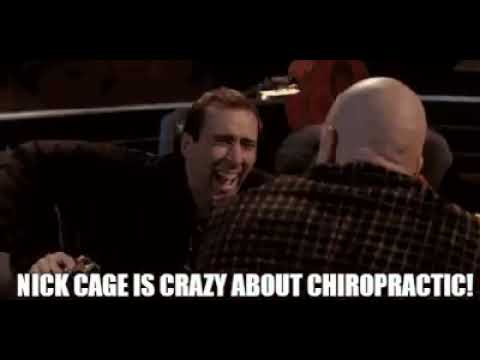 Nicolas Cage Is Crazy For Chiropractic!