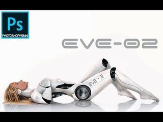 photoshop tutorial cyborg (human robot)
