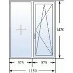 Окно в 137-ой серии из профиля  BRUSBOX Aero ( 60 мм )