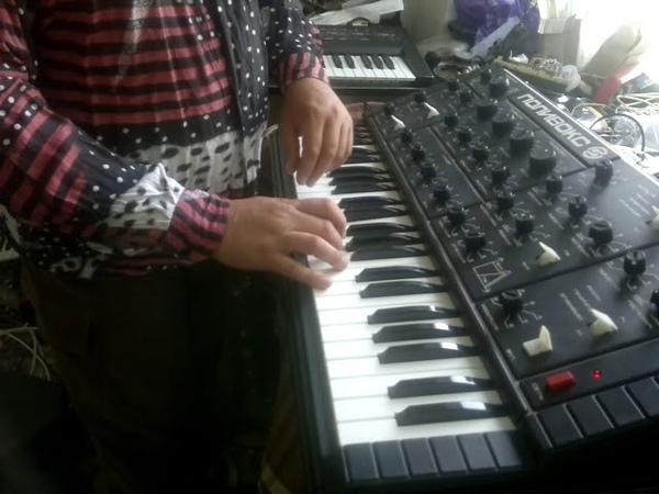 Soviet synth polivoks with midi mod duo