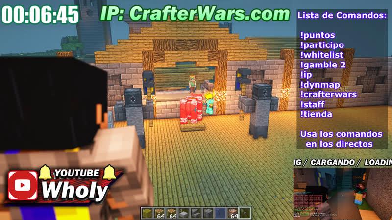 (ESTE VIDEO SERA BORRADO) EN DIRECTO SE BUSCA STAFF [1.14.4 Minecraft] IP: crafterwars.com