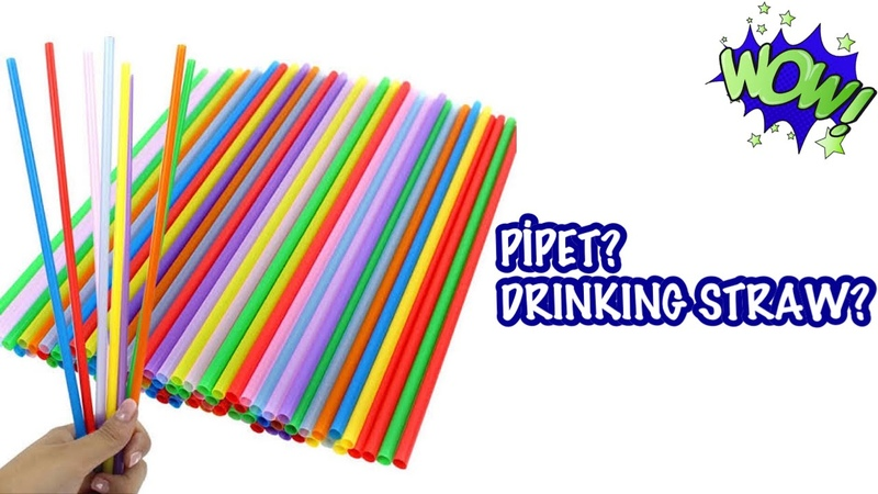 Kağıt Pipetler ile Yapılabilecek Harika Hediye Fikri | Drinking Straw Craft idea | Best out of waste