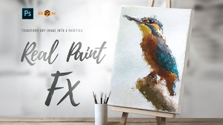 How To Use and Animate Real Paint  FX - Photoshop Add On Extension Tutorial