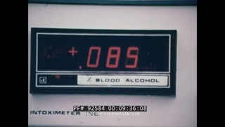 UNDER THE INFLUENCE  1970s LOS ANGELES POLICE DEPT. ANTI-DRUNK DRIVING EDUCATIONAL FILM  92584
