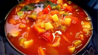 Овощной суп минестроне. Простой рецепт постного блюда.
