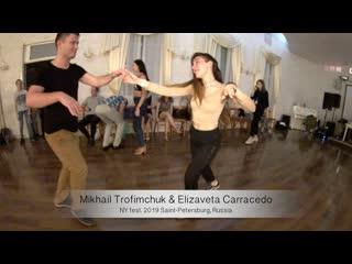 Salsa. Live. Mikhail Trofimchuk & Elizaveta Carracedo    NY fest. 2019