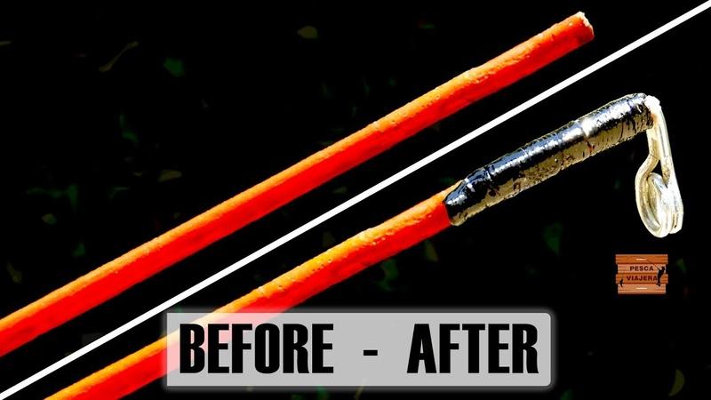 La mejor manera de reparar la puntera rota de una caña de pescar How to fix broken fishing rod toe