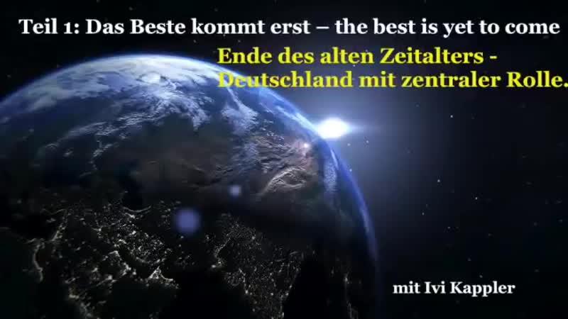 🖤🤍❤️The best is yet to come Ende des alten Zeitalters Deutschland mit zentraler Rolle🙏🏼
