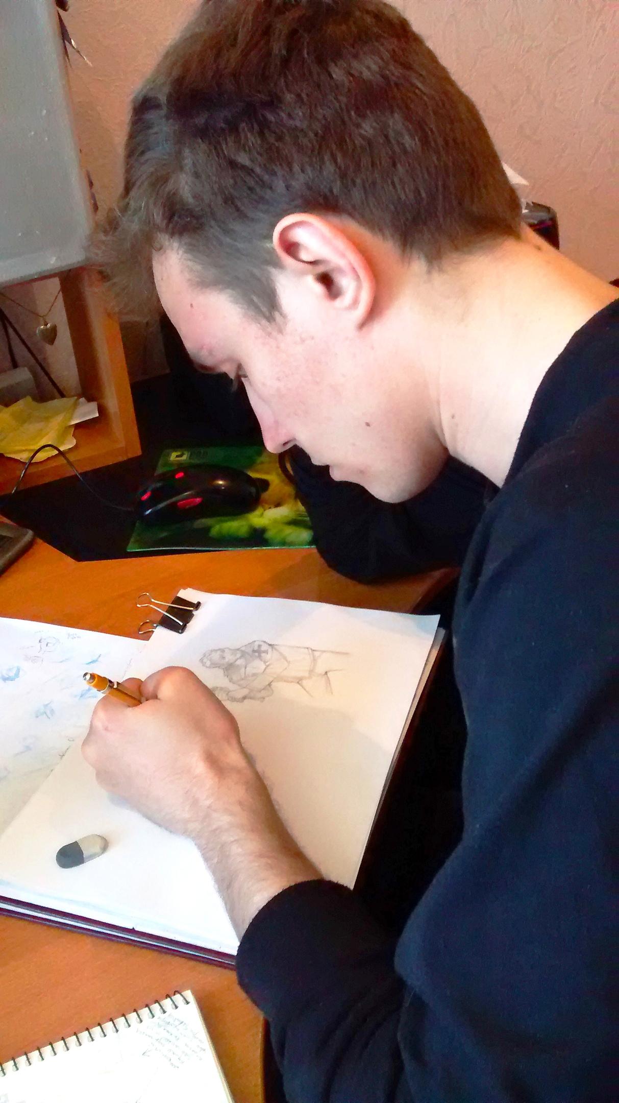 24 апр. 2015 г. — Игорь рисует модельный лист с Брюсом