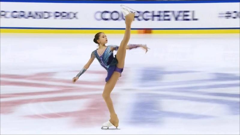 Камила Валиева выиграла этап гран при во Франции Произвольная программа Девушки