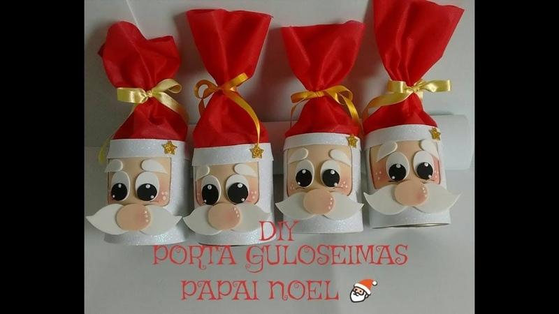 DIY Lembrancinha Porta Guloseimas Papai Noel