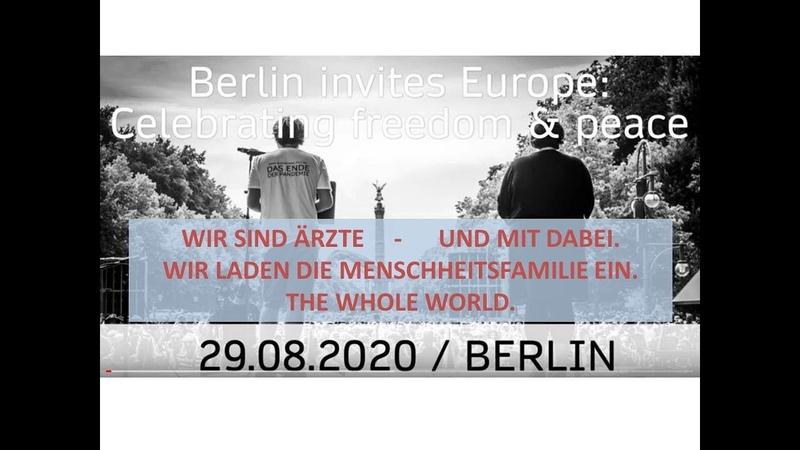 WIR SIND ÄRZTE und wieder zur GROSSDEMO am 29 08 2020 in BERLIN International M D Demonstration