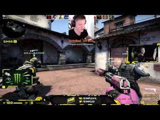 CSGO - s1mple 4k after getting $500 donate