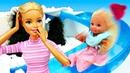 Штеффи гуляет без шапки - Играем в куклы Барби. Мультики для девочек