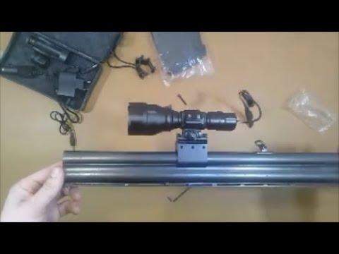 Подствольный фонарь из Китая на ружьё ИЖ 27 Патронташ на приклад