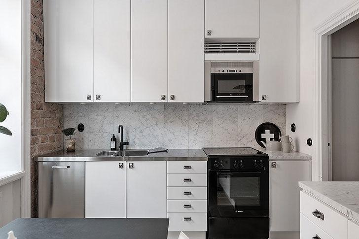 Прохладная элегантность: квартира в Стокгольме