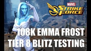 Marvel Strike Force - 108K  Emma Frost Blitzing - Features 120K Black Order Punchup!