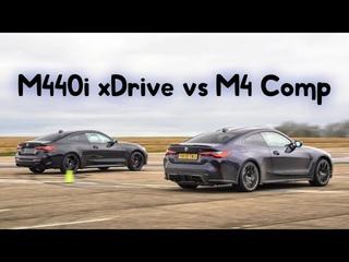 Drag Race - New BMW M4 vs M440i & Lap Time Battle 🏁