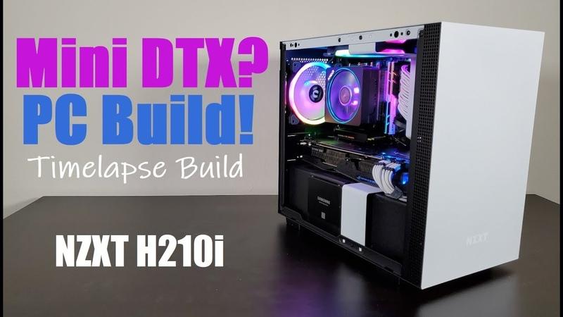 Ryzen 3800X Mini ITX PC Build NZXT H210i