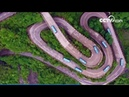 Unmanned vehicle challenges 99 sharp turns on Tianmen Mountain| CCTV English