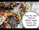 МК Теги Зодиак Step by Step Tutorial Mixed Media Forest Teg Zodiak Graphic 45 by Ragozina Olya