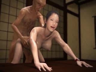Nurarihyon - The Stolen Soul of the Young Bride JAP CEN (3D Хентай,hentai)