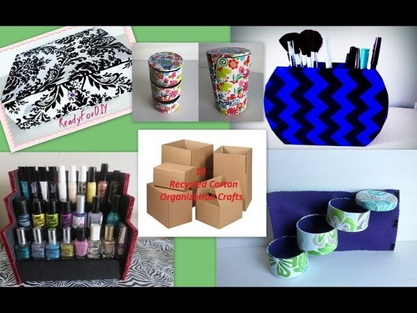 10 Awesome Organization Crafts You Need To Try With Recycling Carton Boxes Compilation DIY