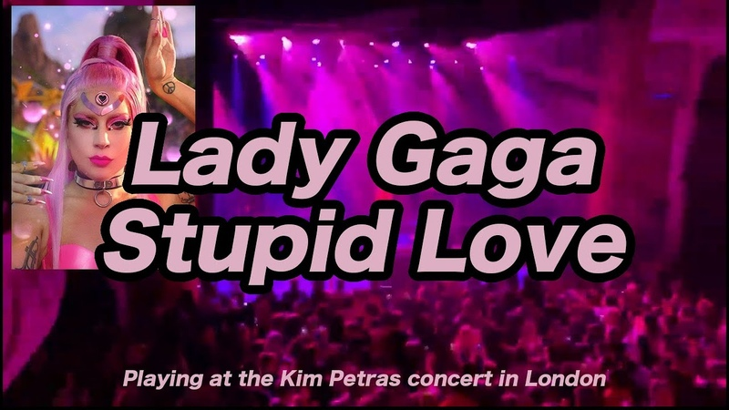 Lady Gaga Stupid Love Playing at the Kim Petras concert in London 2020