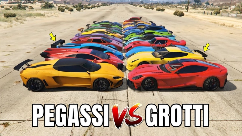 GTA 5 ONLINE PEGASSI VS GROTTI WHICH IS FASTEST