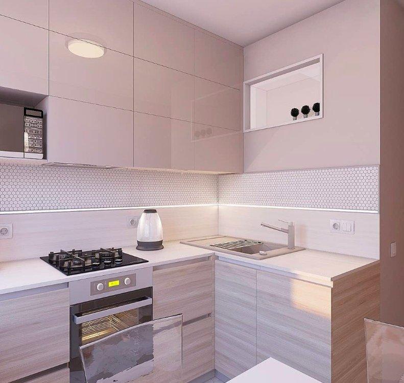 Красивый дизайн маленькой кухни