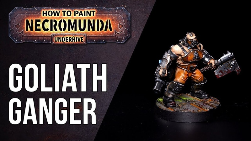 How To Paint Necromunda Goliath Ganger Orange True Metallic Metals